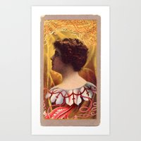 lovecraft Art Prints featuring Lovecraft Lady by The Gonk