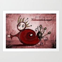 Mademoiselle Escargot Art Print