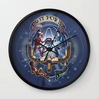 borderlands Wall Clocks featuring Tales from the Borderlands - Do it for Her by animatenowsleeplater