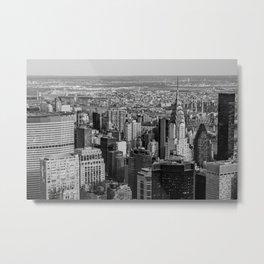Midtown from top (B&W) Metal Print