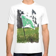 Irish everywhere SMALL White Mens Fitted Tee