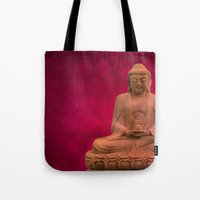 meditation Tote Bags featuring meditation by hannes cmarits (hannes61)
