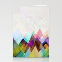 mountain Stationery Cards featuring Graphic 104 by Mareike Böhmer