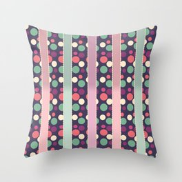 Circles and Stripes Decorative Pattern Throw Pillow