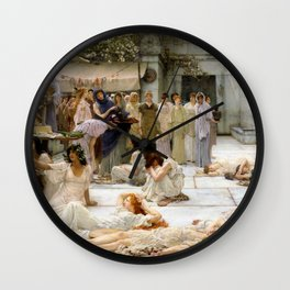 Lawrence Alma-Tadema - Women Of Amphissa - Digital Remastered Edition Wall Clock