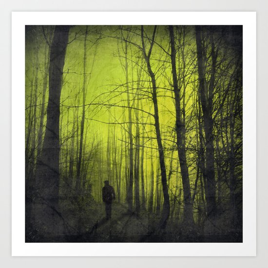 scene from a nightmare Art Print