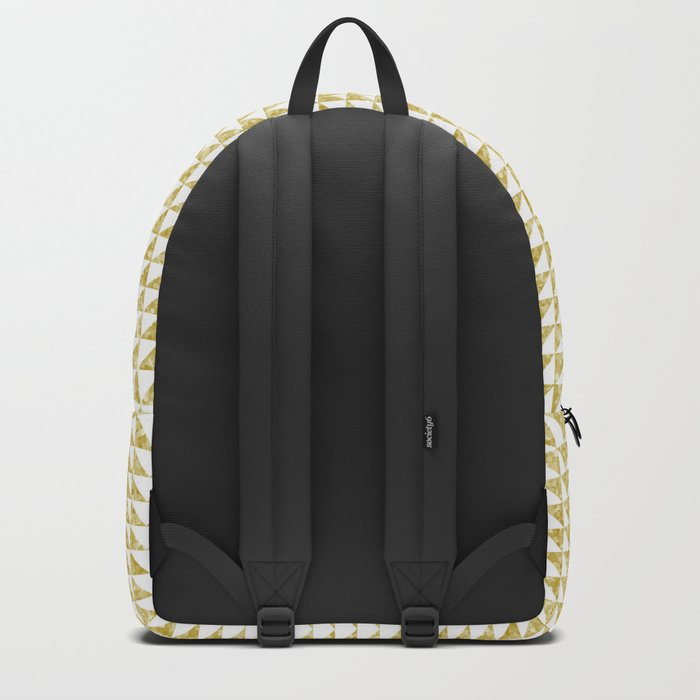 Gold geometric pattern Backpack