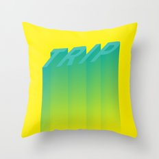 Trip Out Throw Pillow