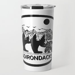 """Adirondack Mama""  Baby Bear Cub, Adirondacks, ADK, Black Bear Art, Bears Decor Wall Art Travel Mug"
