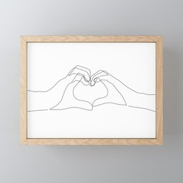 Hand Heart Framed Mini Art Print