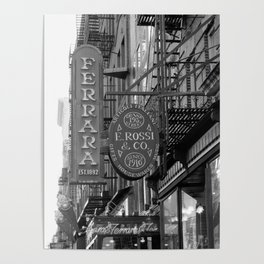 Little Italy Cafe Poster