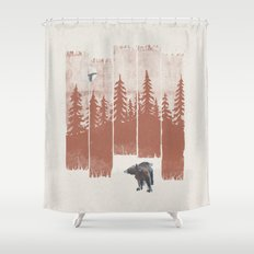A Bear in the Wild... Shower Curtain