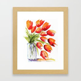 Tulips Overflowing Framed Art Print