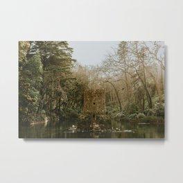 Castle in the Water Metal Print
