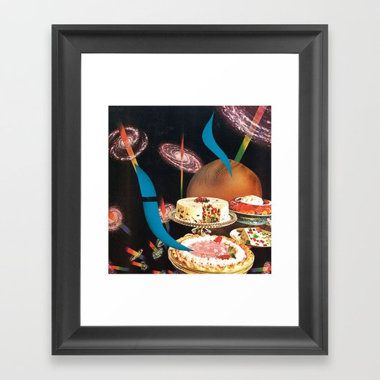 cosmic fruitcake - goofbutton collaboration #12 Framed Art Print