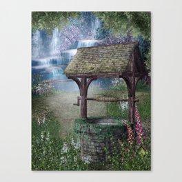 Wishing Well Waterfall Canvas Print