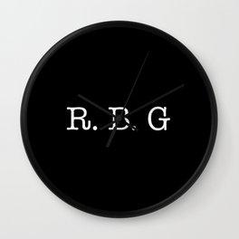 RBG - Ruth Bader Ginsburg Wall Clock