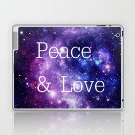 Peace & Love Space purple blue Laptop & iPad Skin