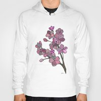 cherry blossoms Hoodies featuring Cherry Blossoms by Nina Gibson