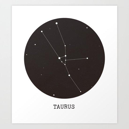 Taurus Star Constellation Art Print
