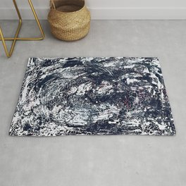 Abstract Red Crackled Cool Vivid Rug