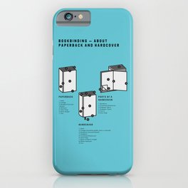 Bookbinding – About Paperback and Hardcover (in English) iPhone Case