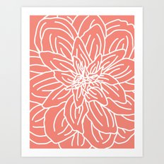 Abstract Flower Coral Art Print