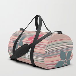 Decorative Neutral Flower Pattern Duffle Bag