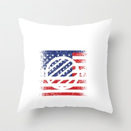 USA Flag Military Cook Grill Sergeant Throw Pillow