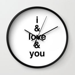 i & love & you Avett Brothers Wall Clock