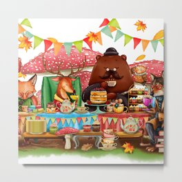 Autumn tea party #1 Metal Print