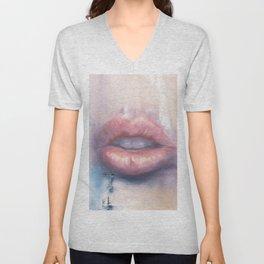 Luscious Lips Unisex V-Neck