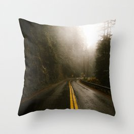 Pacific Northwest Roadtrip Throw Pillow