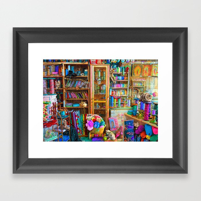 Kitty Heaven Framed Art Print