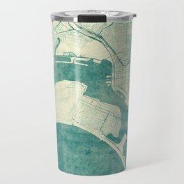 San Diego Map Blue Vintage Travel Mug