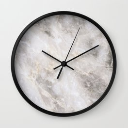 Grey and Gold Marble Wall Clock