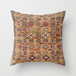 Mustard Khyrdagyd // 19th Century Colorful Dark Red Purple Southwestern Cowboy Ornate Accent Pattern Throw Pillow