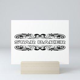 star baker Mini Art Print