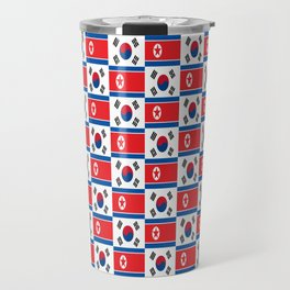Mix of flag : South and North Korea Travel Mug