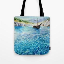Shinning Ocean - Watercolor Landscape Art Tote Bag
