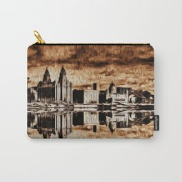 Liverpool Water front Skyline (Digital Art) Carry-All Pouch