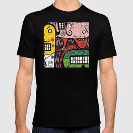 the UNCSCRUPULOUS NONSENSICAL IRREPRESSIBLY INFINITESIMAL INFESTATION of GREED T-shirt