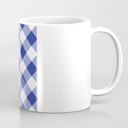 Gingham - Navy Coffee Mug