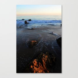 Waves Withdrawing Canvas Print