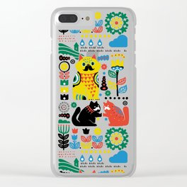 Scandinavian Cats Clear iPhone Case