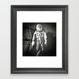 Major Tom has now left the capsule and is forever part of the hazy cosmic jive Framed Art Print