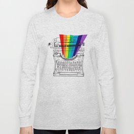 underwood typewriter with a sliver of rainbow Long Sleeve T-shirt