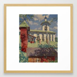 VINOGRADOV, SERGEI (1869-1938) Pechersky Monastery. The Belfry Framed Art Print