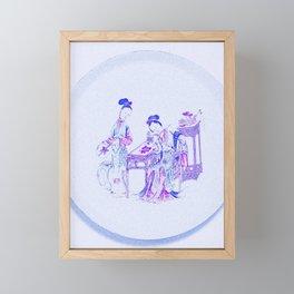 A FAMILLE-ROSE 'LADIES' DISH art by Ahmet Asar Framed Mini Art Print
