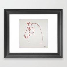 One line Horse 1606 Framed Art Print